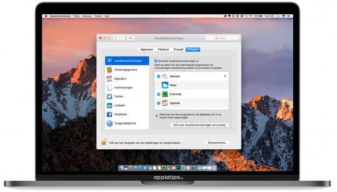 locatievoorzieningen in OS X en Macos beheren