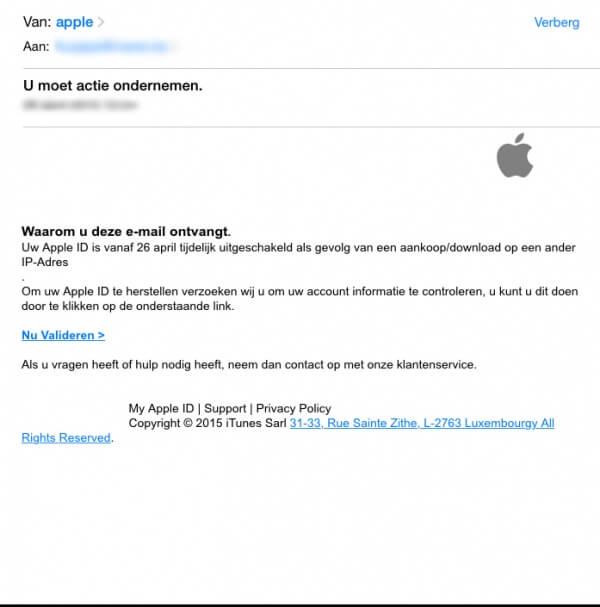 apple mail vals