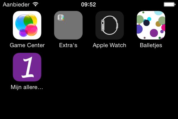 Een app met een te lange naam