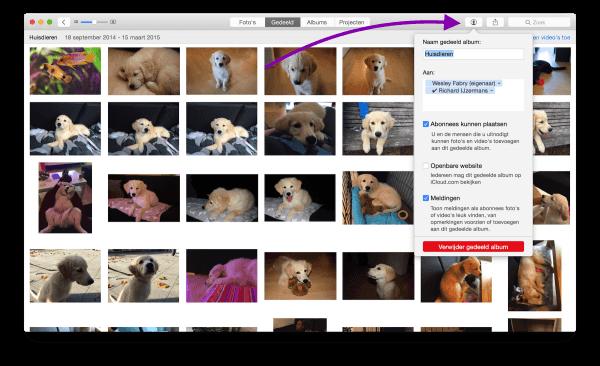 iCloud-fotodelen wijzigen
