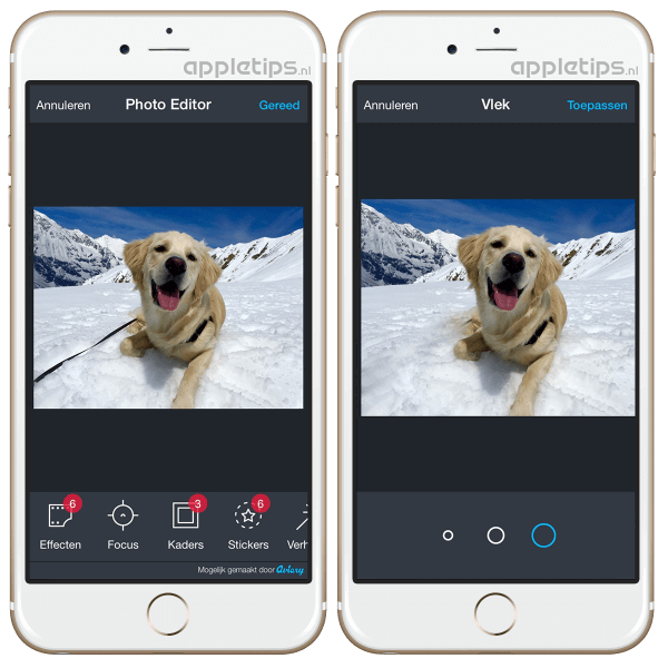 foto bewerken in ios app