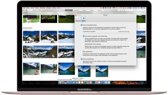 iCloud-fotobibliotheek activiteit controleren in macOS/OS X
