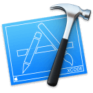 Retina logo van Xcode app
