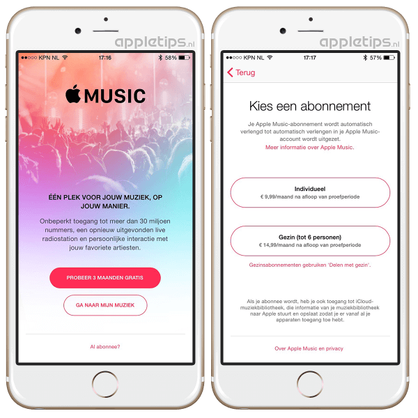 Apple Music start