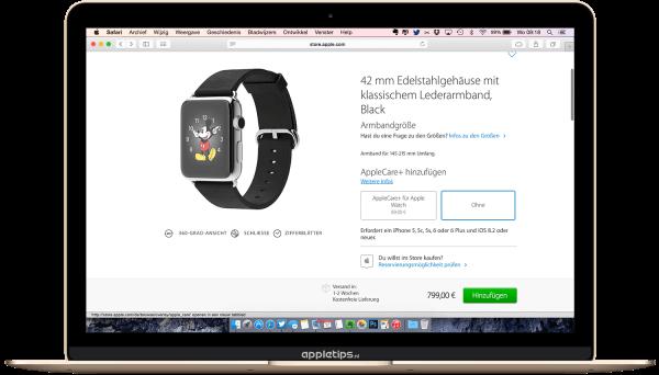 Apple watch reserveren in Duitsland
