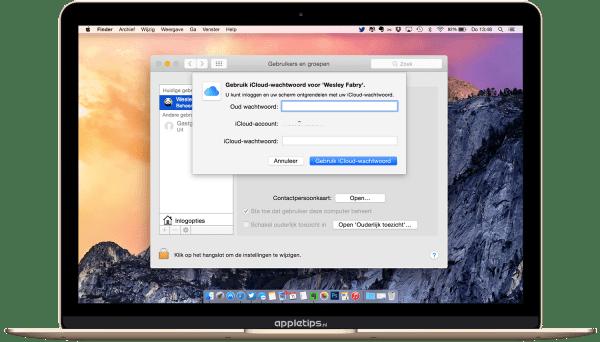 Apple ID wachtwoord gebruiken in OS X