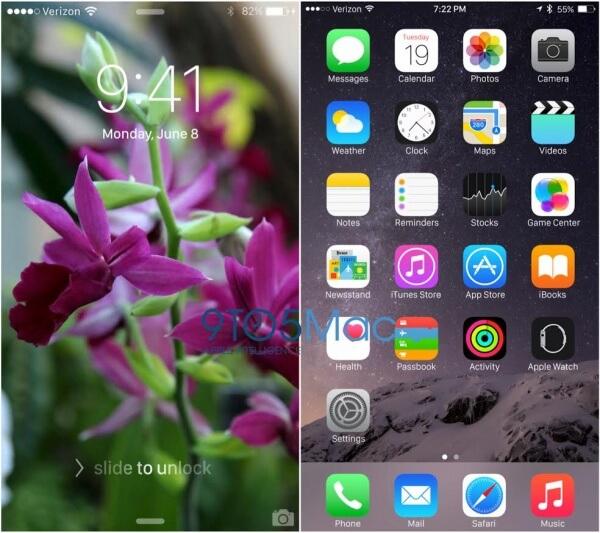 iOS 9 met lettertypse san francisco