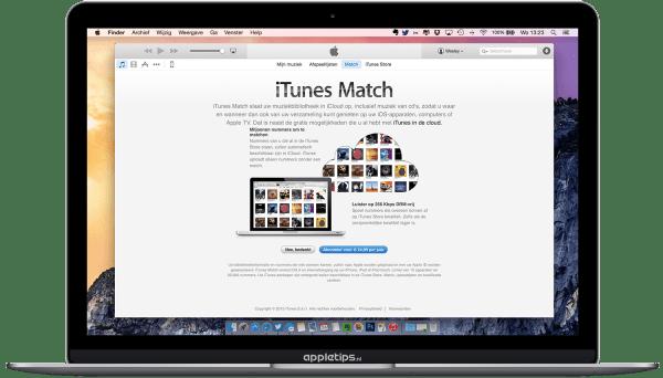 iTunes Match startscherm