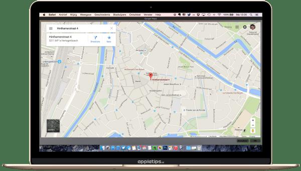 Google maps raadplegen automator