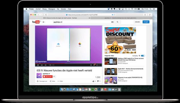 Mute tab in OS X El Capitan