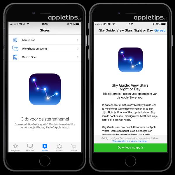 download gratis via de Apple Store app