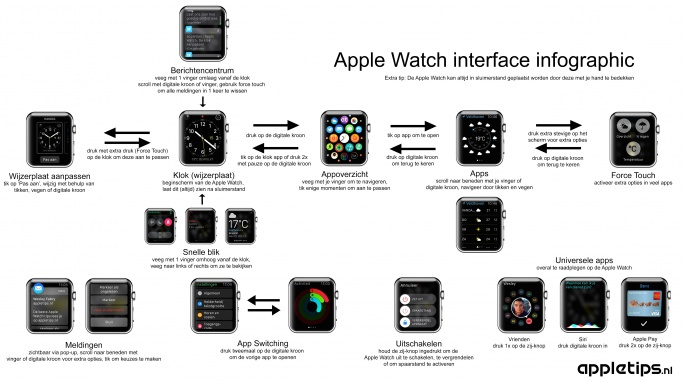 Apple Watch interface infographic