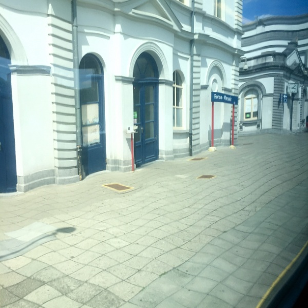 station Foto met tril sms