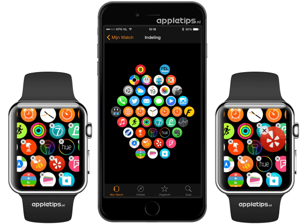 Apps indelen op de Apple Watch