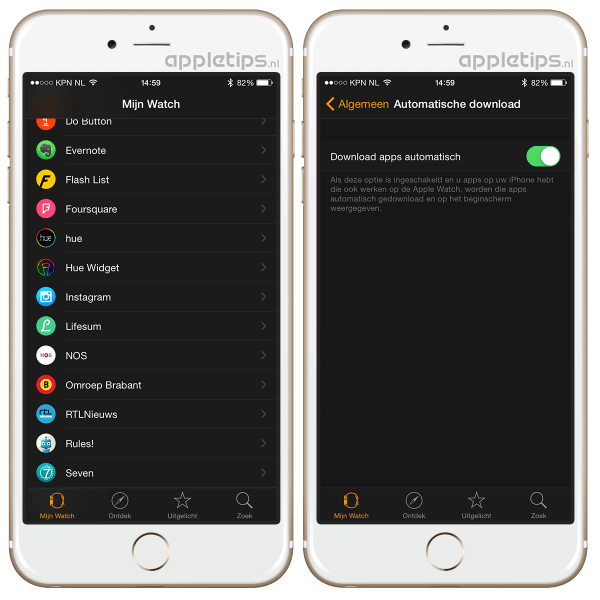 app auto Apple Watch