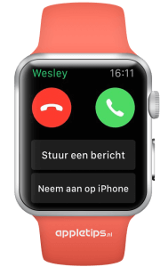bellen met de Apple Watch