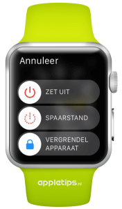 spaarstand Apple Watch