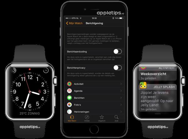 rode bolletje Apple Watch