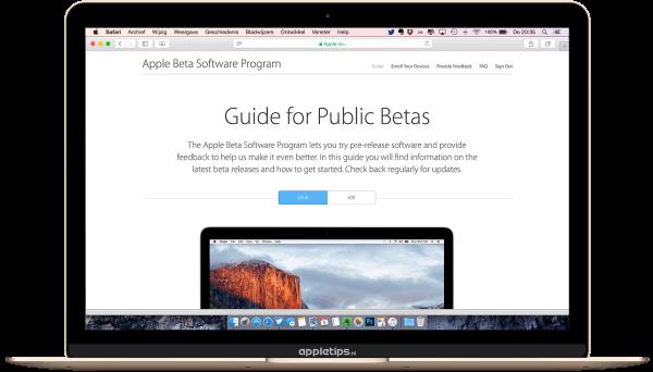 publieke beta van iOS 9 en El Capitan