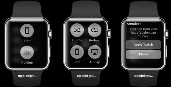 muziek afspelen op de Apple Watch