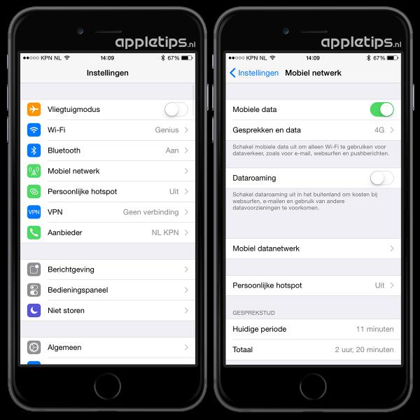 data-roaming iOS