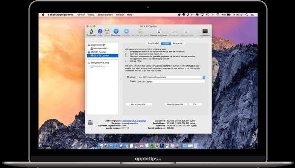 OSX installeren op externe harde schijf