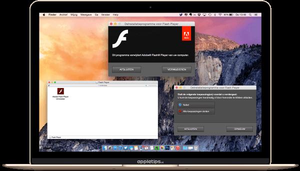 Flash verwijderen van een Mac