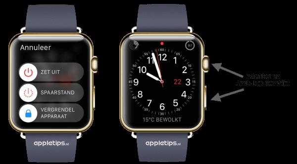 geforceerd herstarten van een Apple Watch