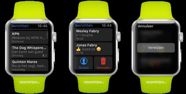 berichten verwijderen Apple Watch
