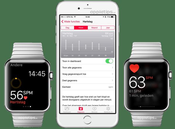 hartslag bekijken Apple Watch