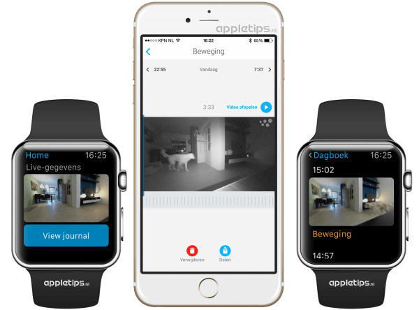 Withings Home Camera Apple Watch
