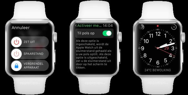 uitschakelen Apple Watch