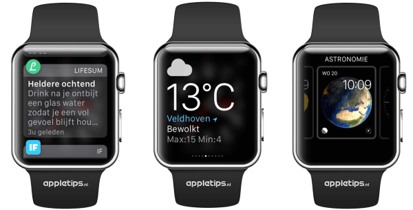 interface Apple Watch begrijpen