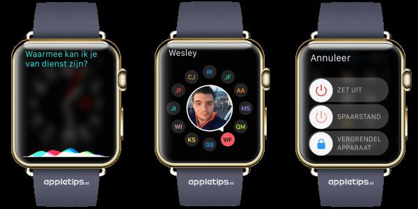 vrienden etc op Apple Watch