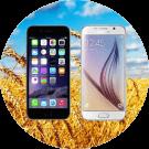 iphone samsung platteland