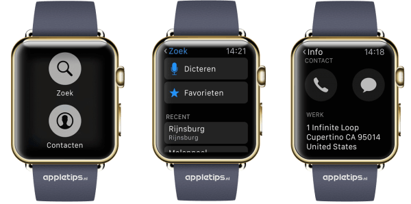 navigeren met de Apple Watch