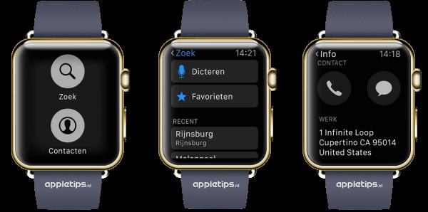 navigeren met de Apple Watch