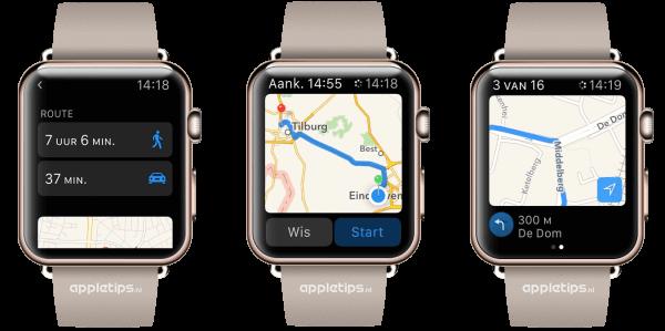 kaarten Apple Watch gebruiken