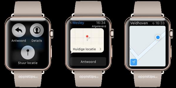 locatie versturen Apple Watch
