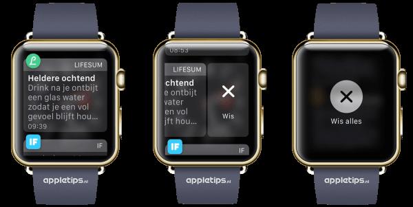 hoe reageren op Apple Watch meldingen