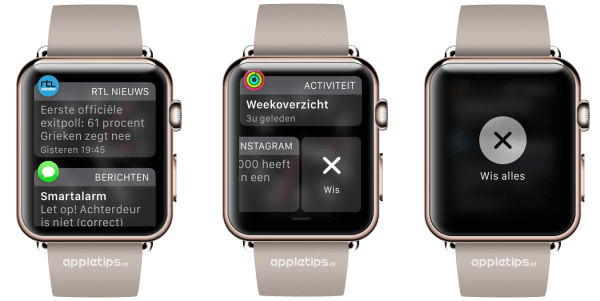 meldingen wissen berichtencentrum Apple Watch