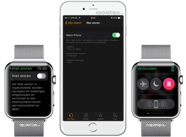 niet storen gebruiken Apple Watch