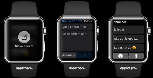 nieuwe bericht aanmaken Apple Watch