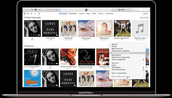 iTunes offline nummers