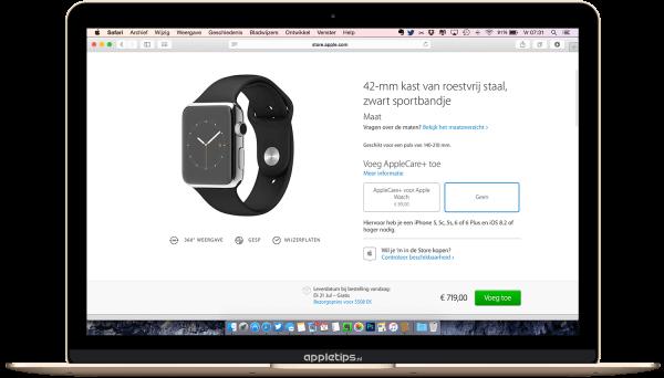 Apple Watch reserveren