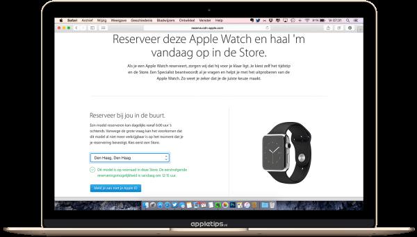 Apple Watch reservatie