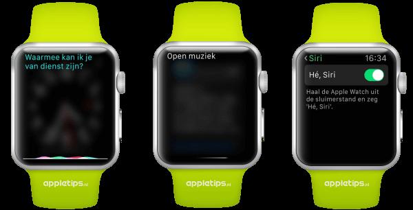 Siri gebruiken op de Apple Watch