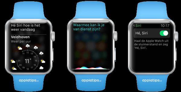 Siri op de Apple Watch