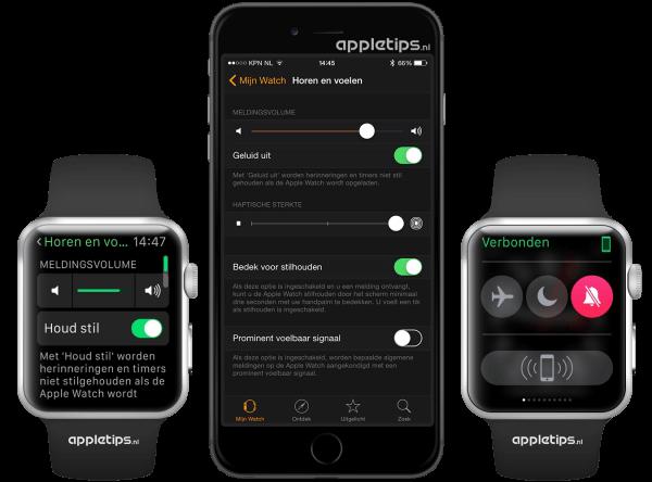 geluid uitschakelen Apple Watch