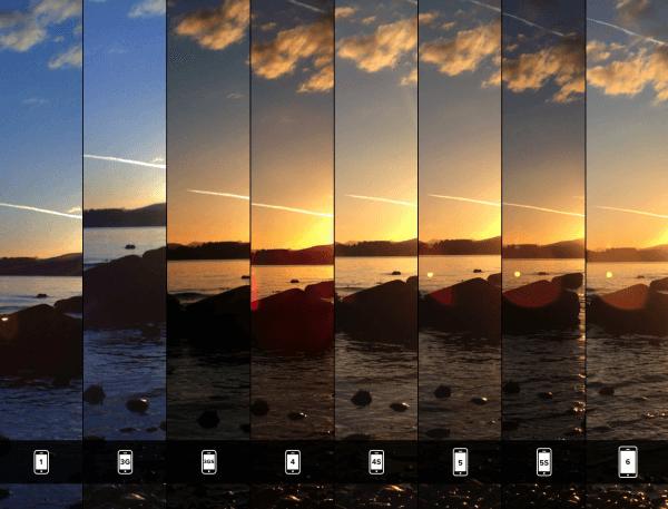 vergelijking iPhone camera's